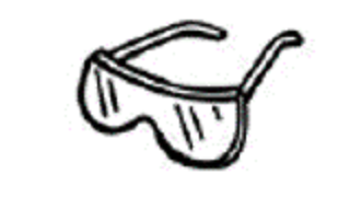 drawing of safety glasses