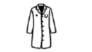 drawing of a lab coat