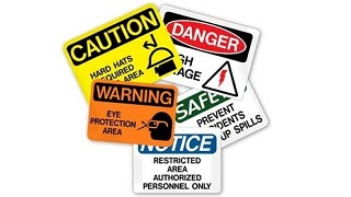 various safety signs